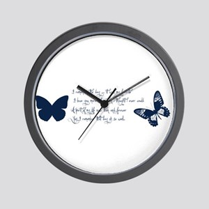 Remember Butterflies Wall Clock
