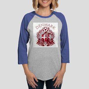 Denmark Soccer Womens Baseball Tee