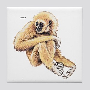 Gibbon Monkey Ape Tile Coaster
