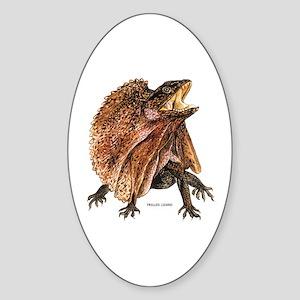Frilled Lizard Sticker (Oval)
