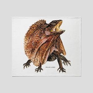Frilled Lizard Throw Blanket