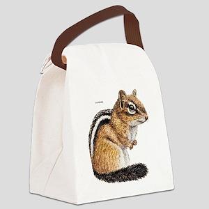 Chipmunk Animal Canvas Lunch Bag