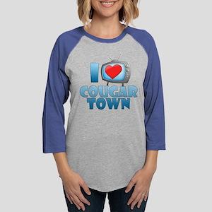 I Heart Cougar Town Womens Baseball Tee