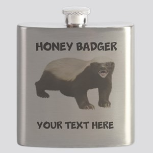 Custom Honey Badger Flask