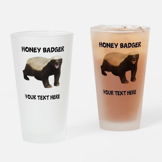 Custom Honey Badger Drinking Glass