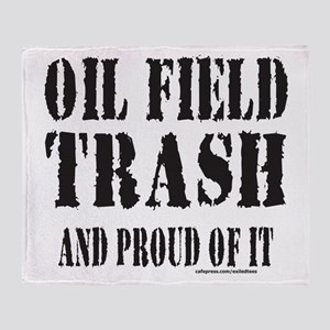 OIL FIELD TRASH Throw Blanket