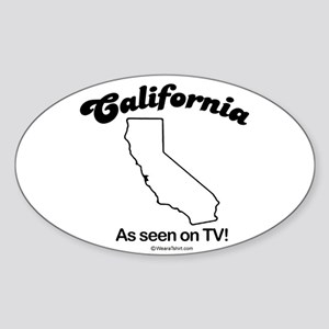 CALIFORNIA: As seen on TV Oval Sticker