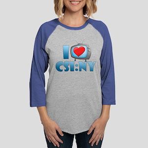 I Heart CSI: NY Womens Baseball Tee
