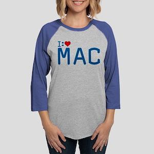 I Heart Mac Womens Baseball Tee