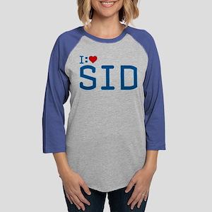I Heart Sid Womens Baseball Tee