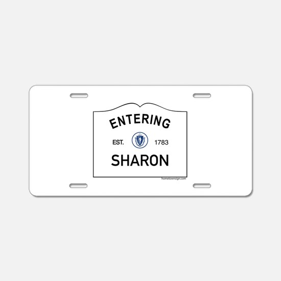 Sharon Aluminum License Plate