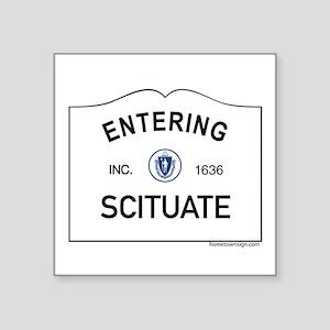 """Scituate Square Sticker 3"""" x 3"""""""