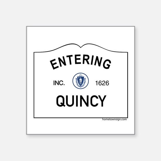 "Quincy Square Sticker 3"" x 3"""