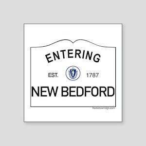 "New Bedford Square Sticker 3"" x 3"""