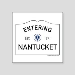 "Nantucket Square Sticker 3"" x 3"""