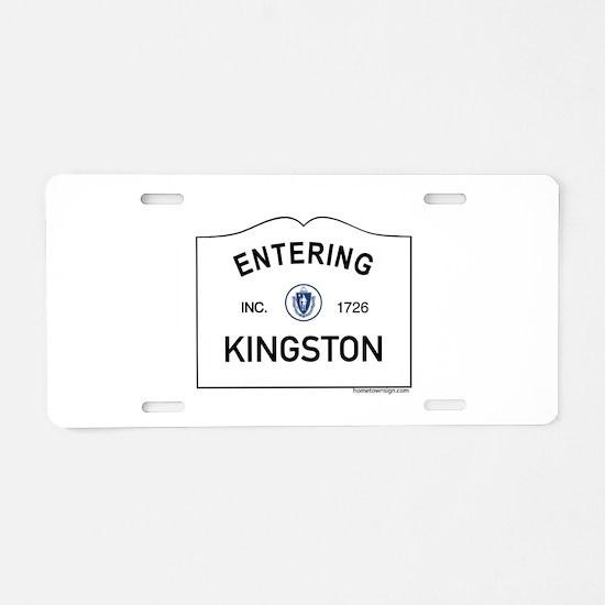 Kingston Aluminum License Plate