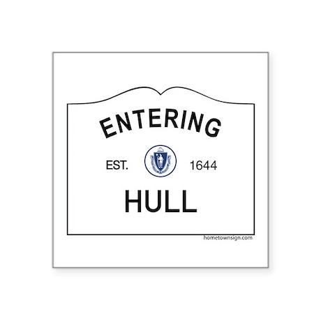 "Hull Square Sticker 3"" x 3"""
