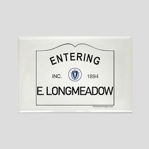East Longmeadow Rectangle Magnet