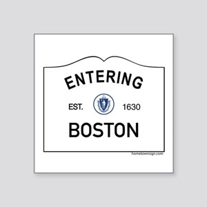 "Boston Square Sticker 3"" x 3"""