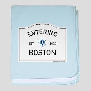 Boston baby blanket