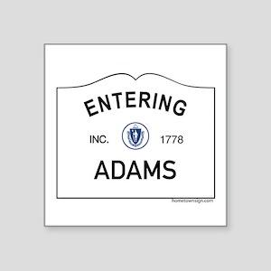"Adams Square Sticker 3"" x 3"""