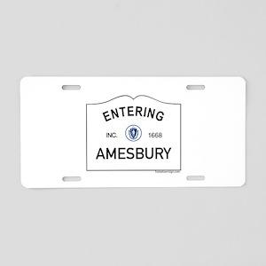 Amesbury Aluminum License Plate