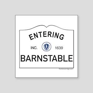 """Barnstable Square Sticker 3"""" x 3"""""""