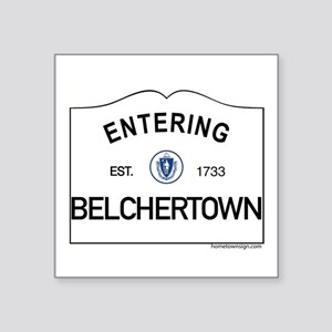 "Belchertown Square Sticker 3"" x 3"""