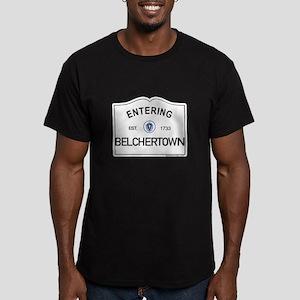 Belchertown Men's Fitted T-Shirt (dark)