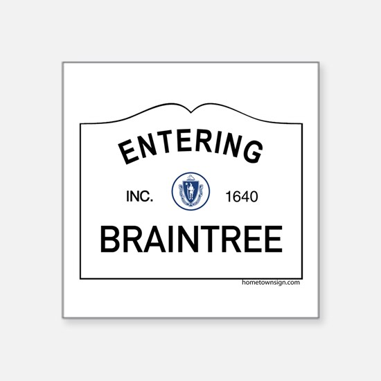 "Braintree Square Sticker 3"" x 3"""