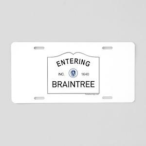 Braintree Aluminum License Plate