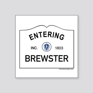 "Brewster Square Sticker 3"" x 3"""