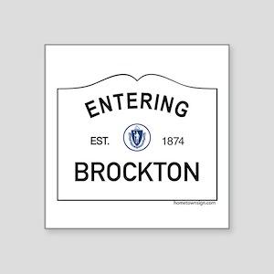"""Brockton Square Sticker 3"""" x 3"""""""