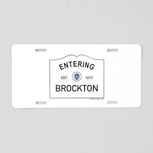 Brockton Aluminum License Plate