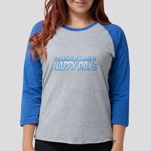 I'd Rather Be Watching Happy Womens Baseball Tee