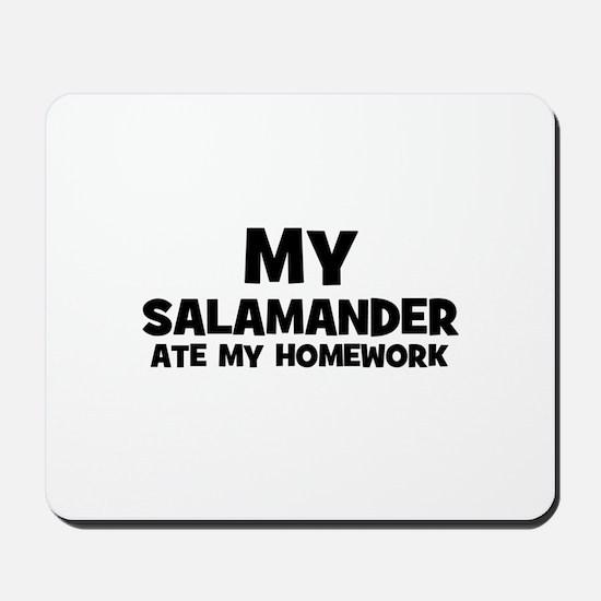 My Salamander Ate My Homework Mousepad