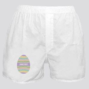 Your Text Easter Egg Boxer Shorts