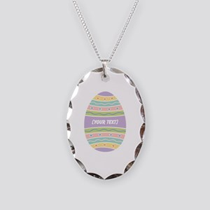 Your Text Easter Egg Necklace Oval Charm