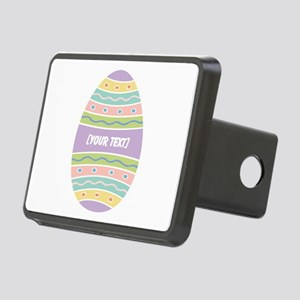 Your Text Easter Egg Rectangular Hitch Cover
