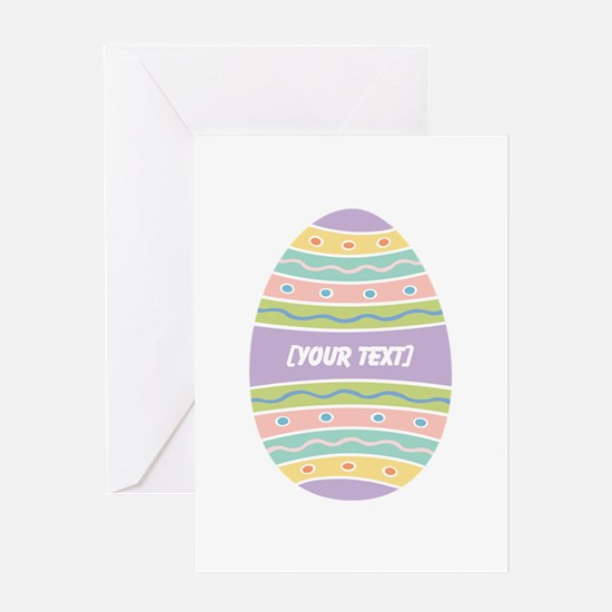 Your Text Easter Egg Greeting Card
