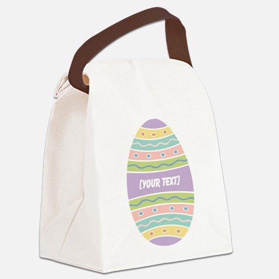 Your Text Easter Egg Canvas Lunch Bag