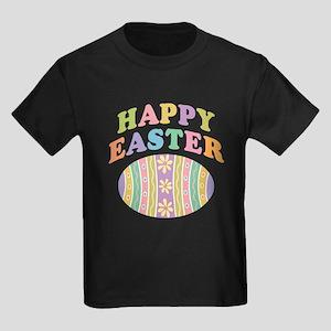 Happy Easter Egg Kids Dark T-Shirt