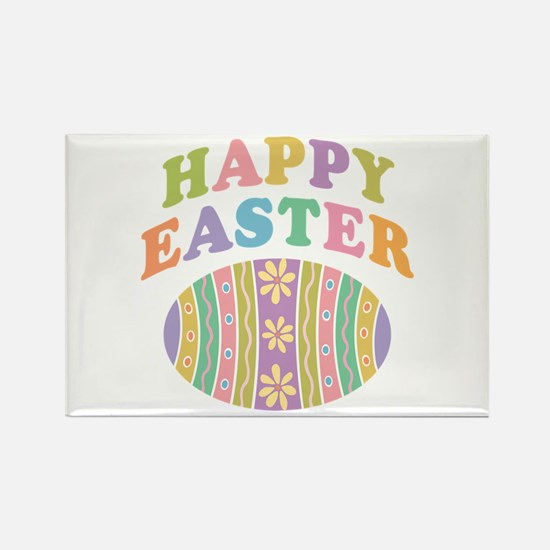Happy Easter Egg Rectangle Magnet