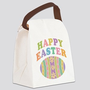 Happy Easter Egg Canvas Lunch Bag