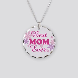 Best Mom Ever fl 1.1 Necklace Circle Charm