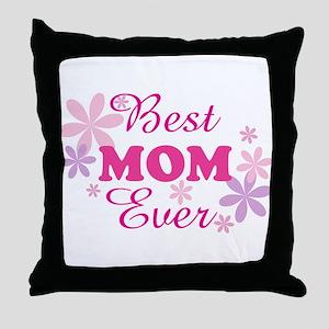 Best Mom Ever fl 1.1 Throw Pillow