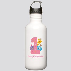 First Birthday candle and animals Stainless Water
