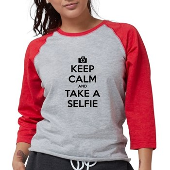 Keep Calm and Take a Selfie Womens Baseball Tee