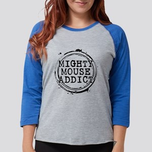 Mighty Mouse Addict Womens Baseball Tee