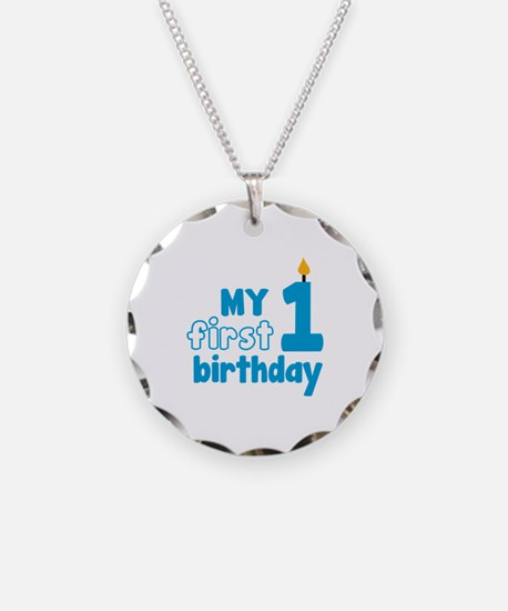 First Birthday Necklace Circle Charm